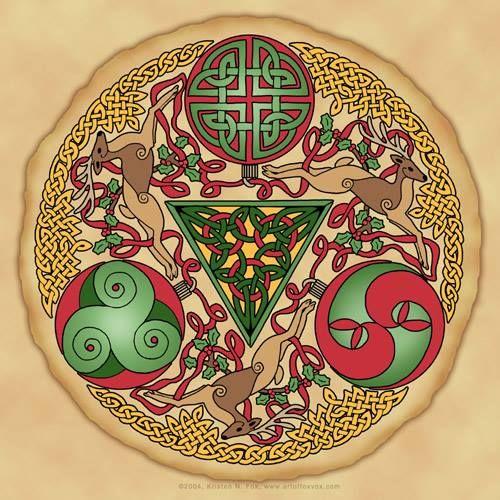 La Roue Des Symboles Motif Celtique Celtic Coloriage Zen