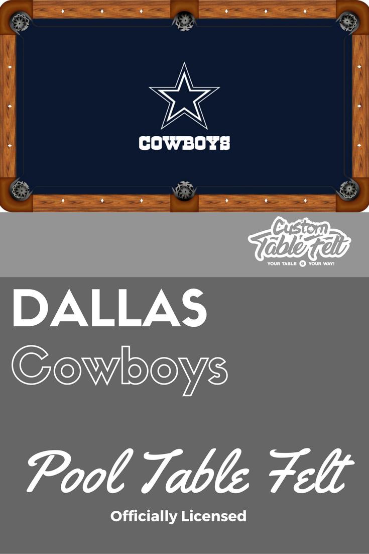 Dallas Cowboys Pool Table Felt. Licensed Pool Table Cloth.
