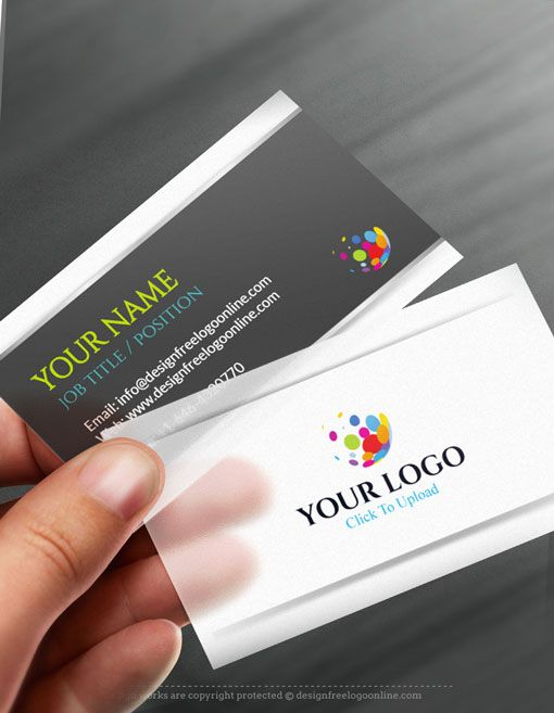 Online Business Card Maker App D Silver Business Card Template - Business card template maker