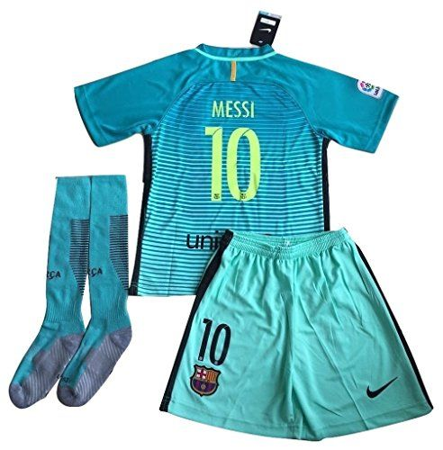 20162017 Messi 10 FC Barcelona Champions League Third Jersey Shorts and  Socks for KidsYouth 910 Years Old -- Find out more about the great product  at the ... 1eebe02e5