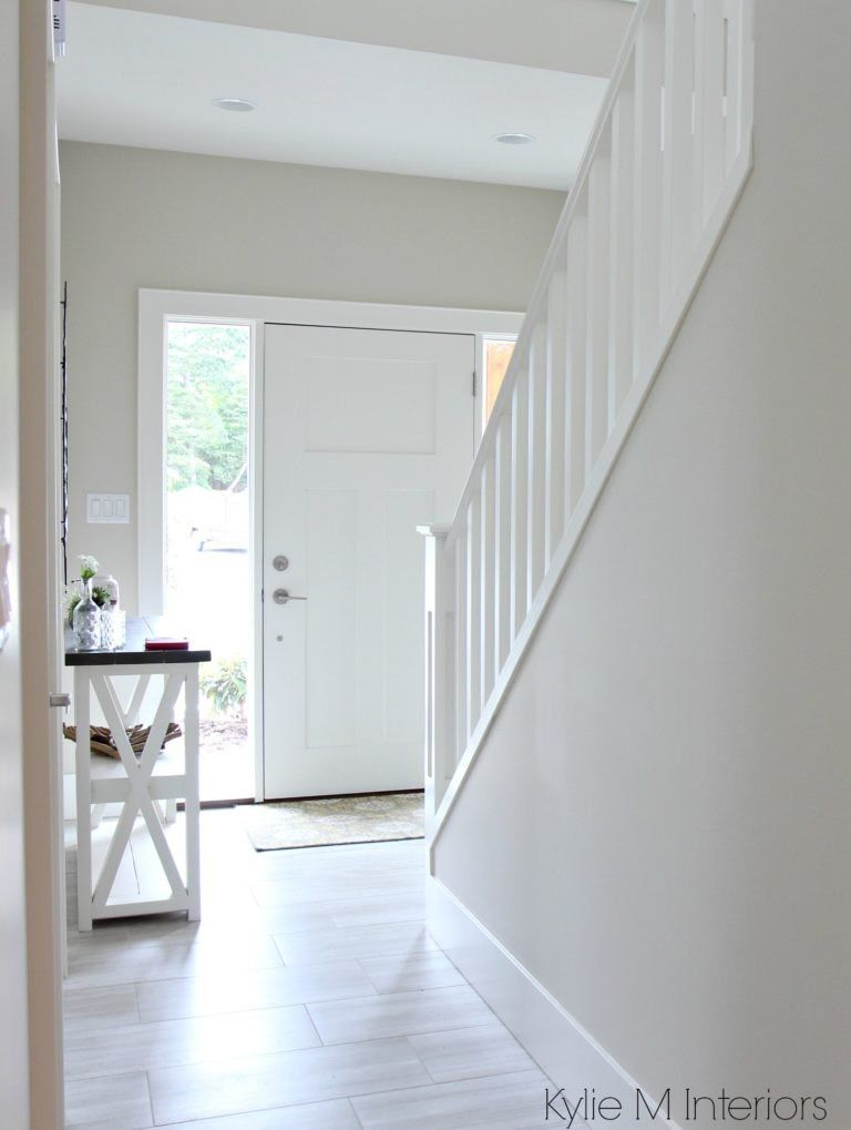 Benjamin Moore Edgecomb Gray Or Greige In Entryway Foyer With