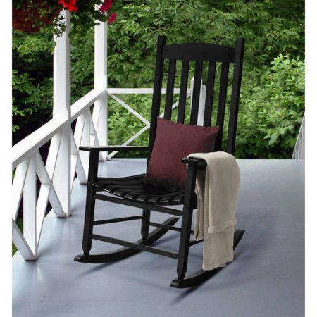 Phenomenal Mainstays Wood Porch Rocker Black Products Rocking Creativecarmelina Interior Chair Design Creativecarmelinacom