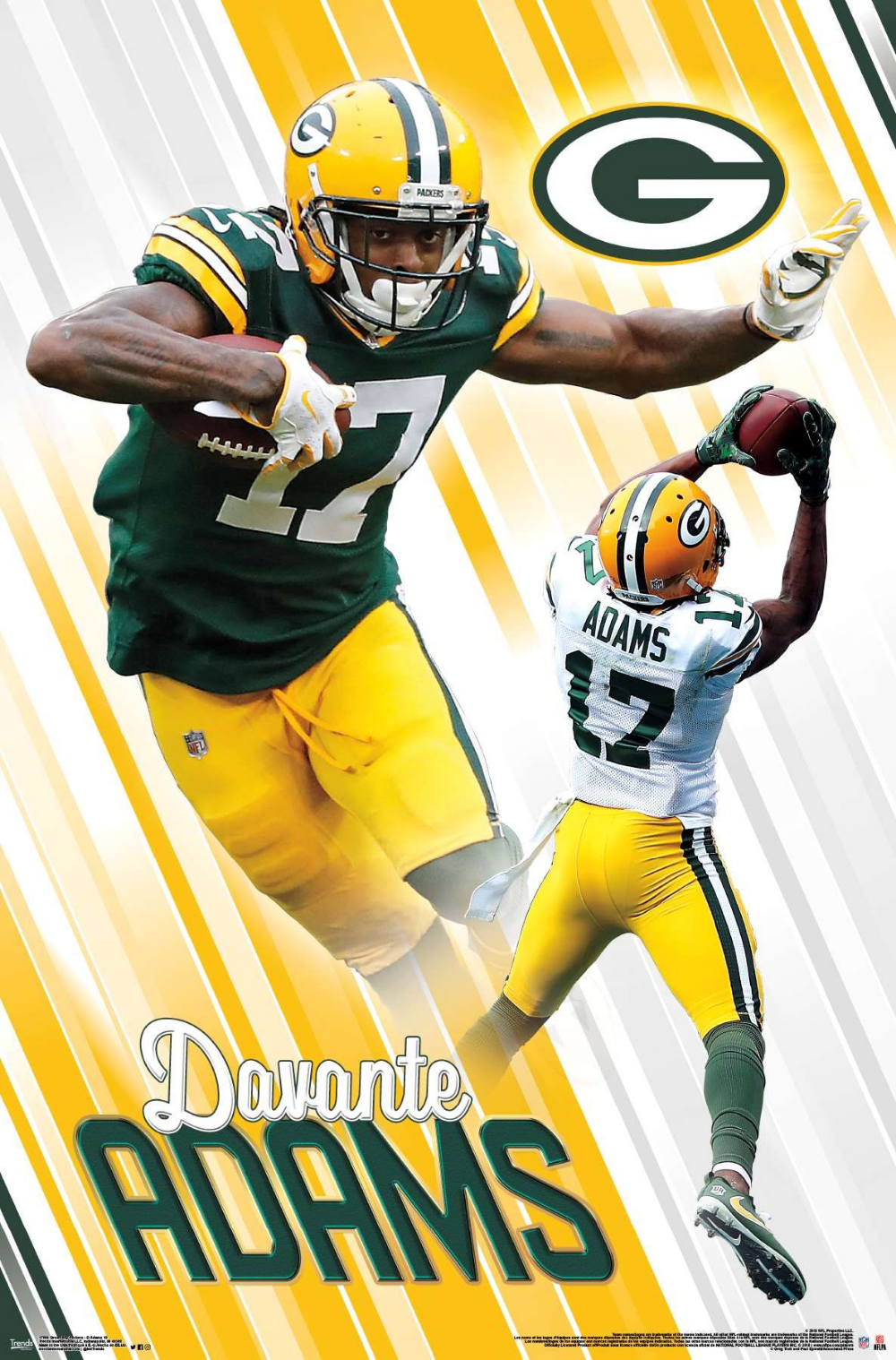 Green Bay Packers Devante Adams Greenbaypackers Nflfootball Nfl Footballposter Footballpartyd Nfl Green Bay Green Bay Packers Green Bay Packers Football