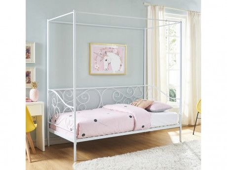 Metallbett Himmelbett VIVIAN - 90x200 cm Betten Pinterest