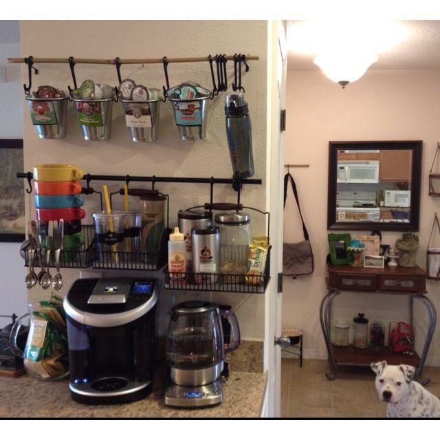 Coffee / Tea Bar Ikea Wall Storage