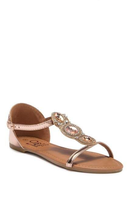 42fb70051 OLIVIA MILLER Stone Embellished Sandal (Little Kid   Big Kid ...