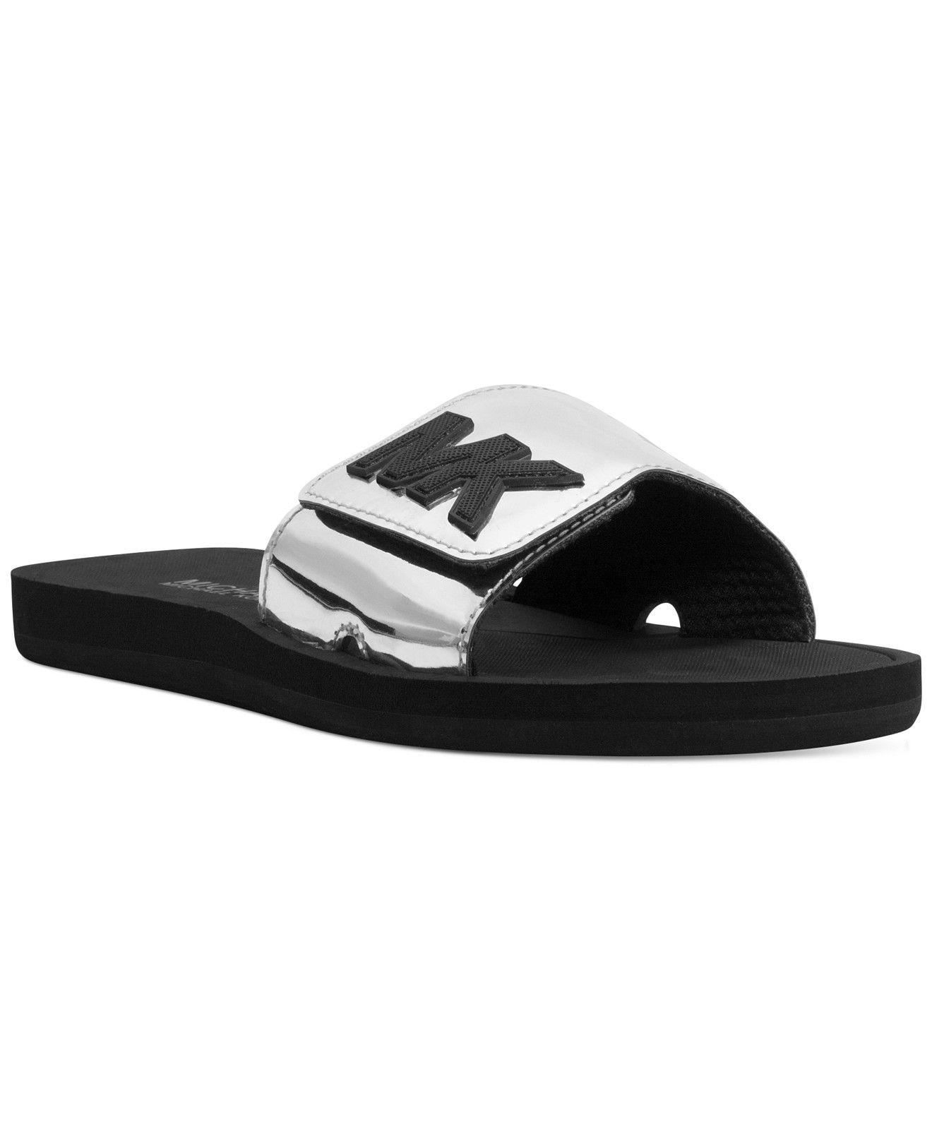 Black sandals michael kors - Michael Michael Kors Mk Shower Slide Sandals
