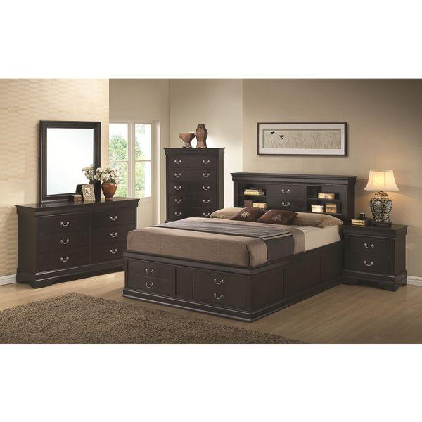 Blackhawk Black 4 Piece Bedroom Set