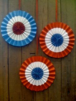 How to independence day paper rosettes also best decoration images th of july party rh pinterest