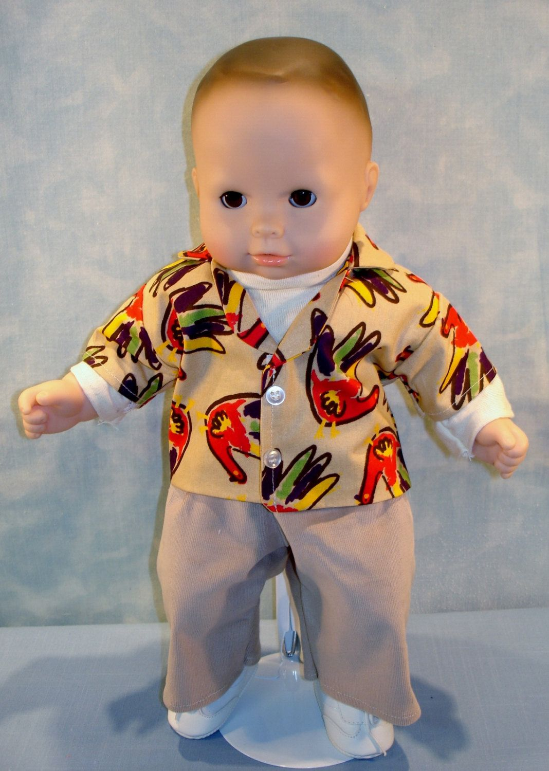 15 Inch Doll Clothes Boy Doll Thanksgiving Turkey Shirt Etsy Boy Outfits Doll Clothes Bitty Baby Clothes
