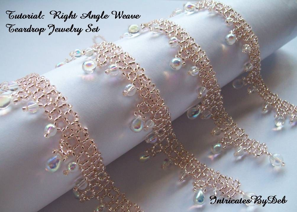 Tutorial for Beaded Right Angle Weave Teardrop Jewelry Set - DIY ...