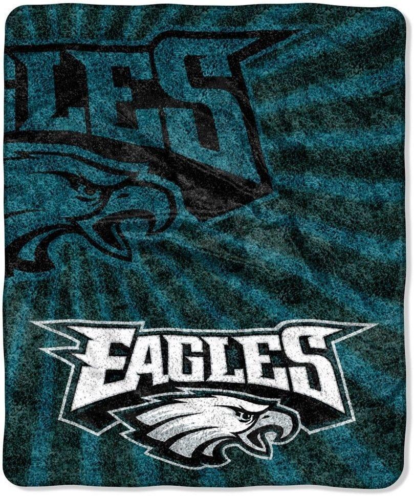 248346ca Philadelphia Eagles Sherpa Throw Blanket Dorm Man Cave NFL Super ...