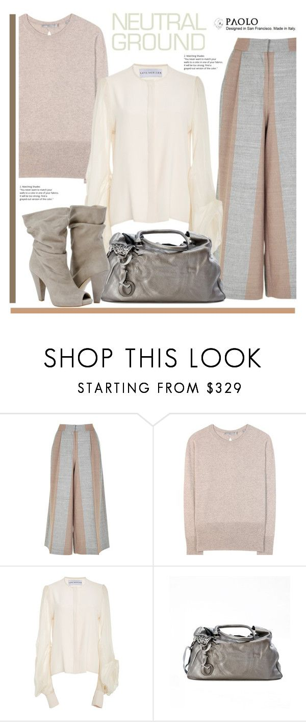 """""""Cool Neutrals and PaoloShoes"""" by spenderellastyle ❤ liked on Polyvore featuring TIBI and Vince"""