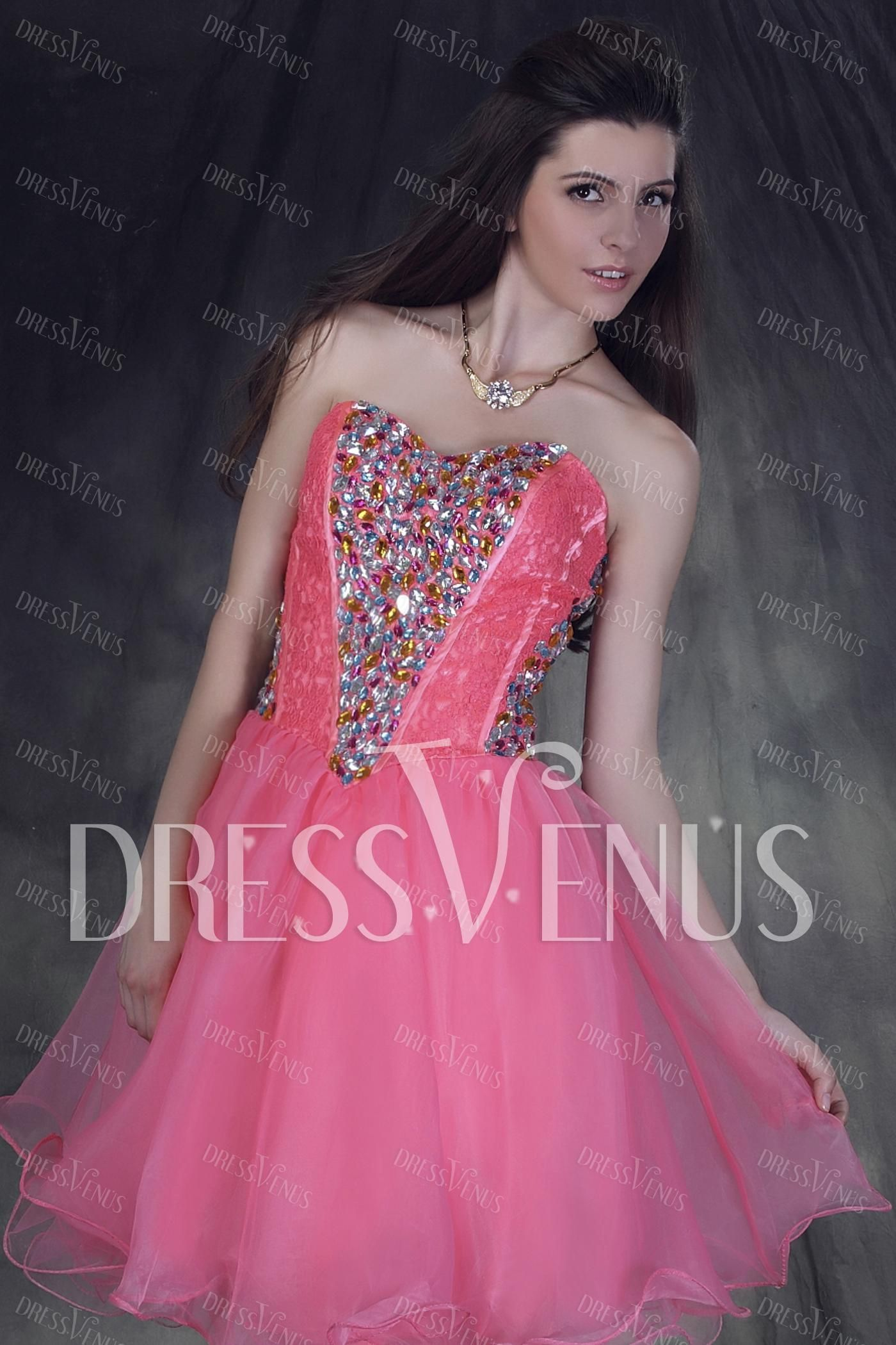Fabulous A-line Mini/Short Sweetheart Anderai\'s Sweet Sixteen Dress ...