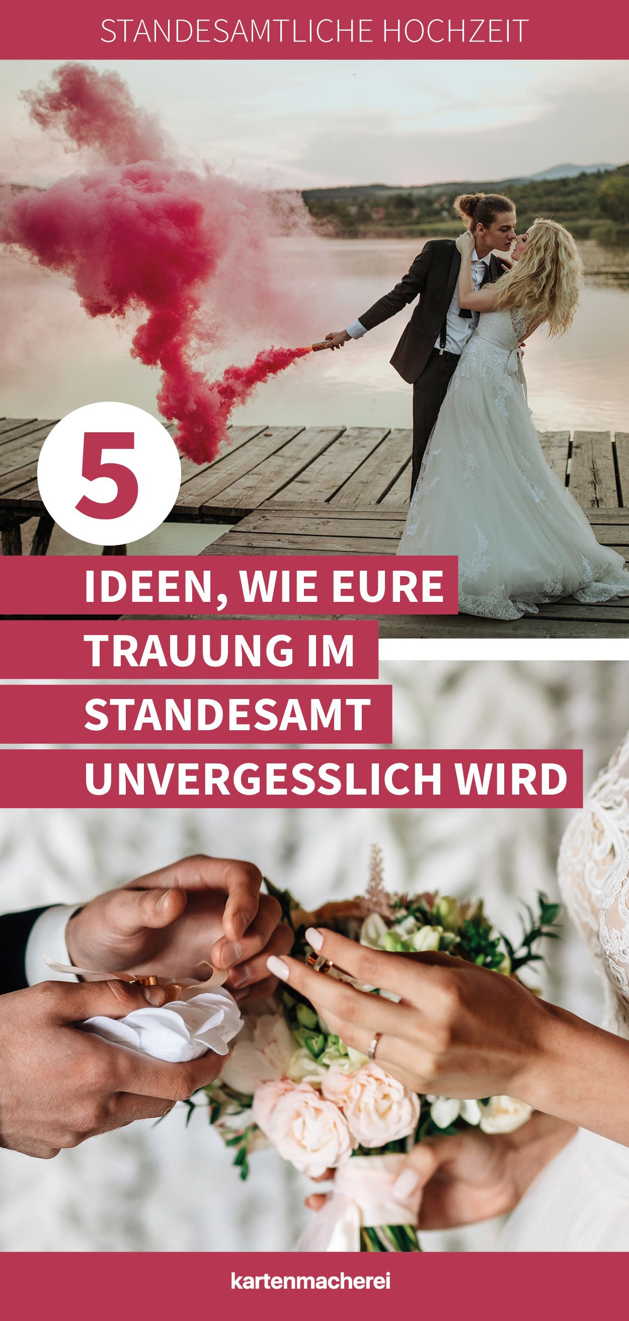 Kreative Ideen Furs Standesamt So Wird Die Zeremonie Unvergesslich Schon Standesamtliche Hochzeit Hochzeit Trauspruch Hochzeit