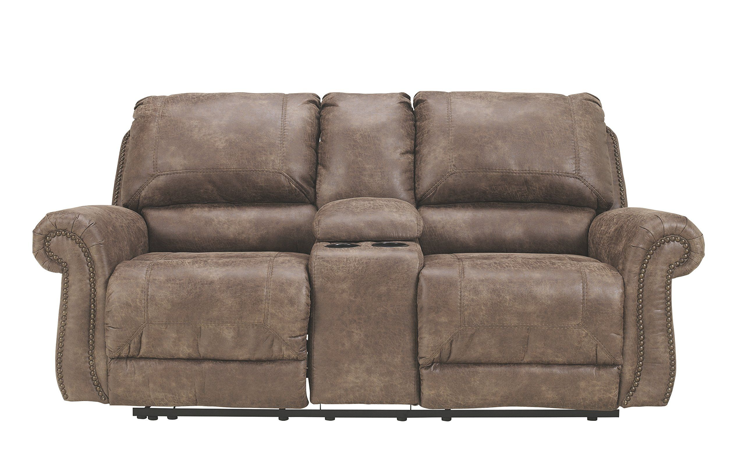 Ashley Furniture Signature Design Oberson Recliner Loveseat with