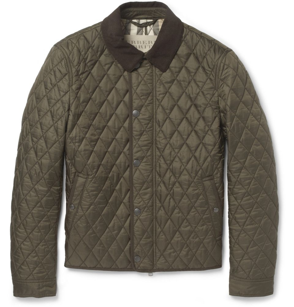 Burberry Brit Corduroy Collar Quilted Jacket Mr Porter Jackets Burberry Brit Jacket Mens Jackets