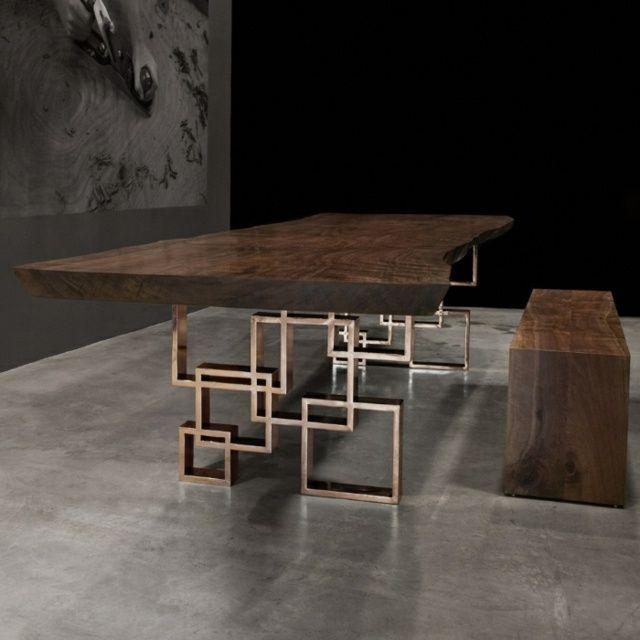 Geometric Furniture Table Brass Base Geometric Furniture Table Brass