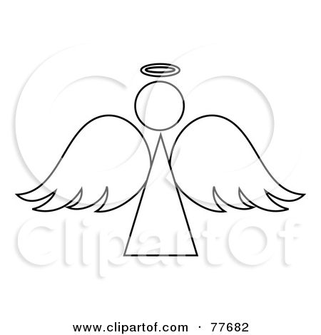 Royalty Free Rf Clipart Illustration Of A Black And White Angel Printable Stencil Patterns Free Stencils Printables Clip Art
