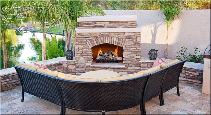 outdoor fire place pit - Google Search