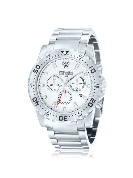 Swiss Eagle Men's SE-9008-22 Fleet Chronograph White Stainless Steel Watch at MyHabit