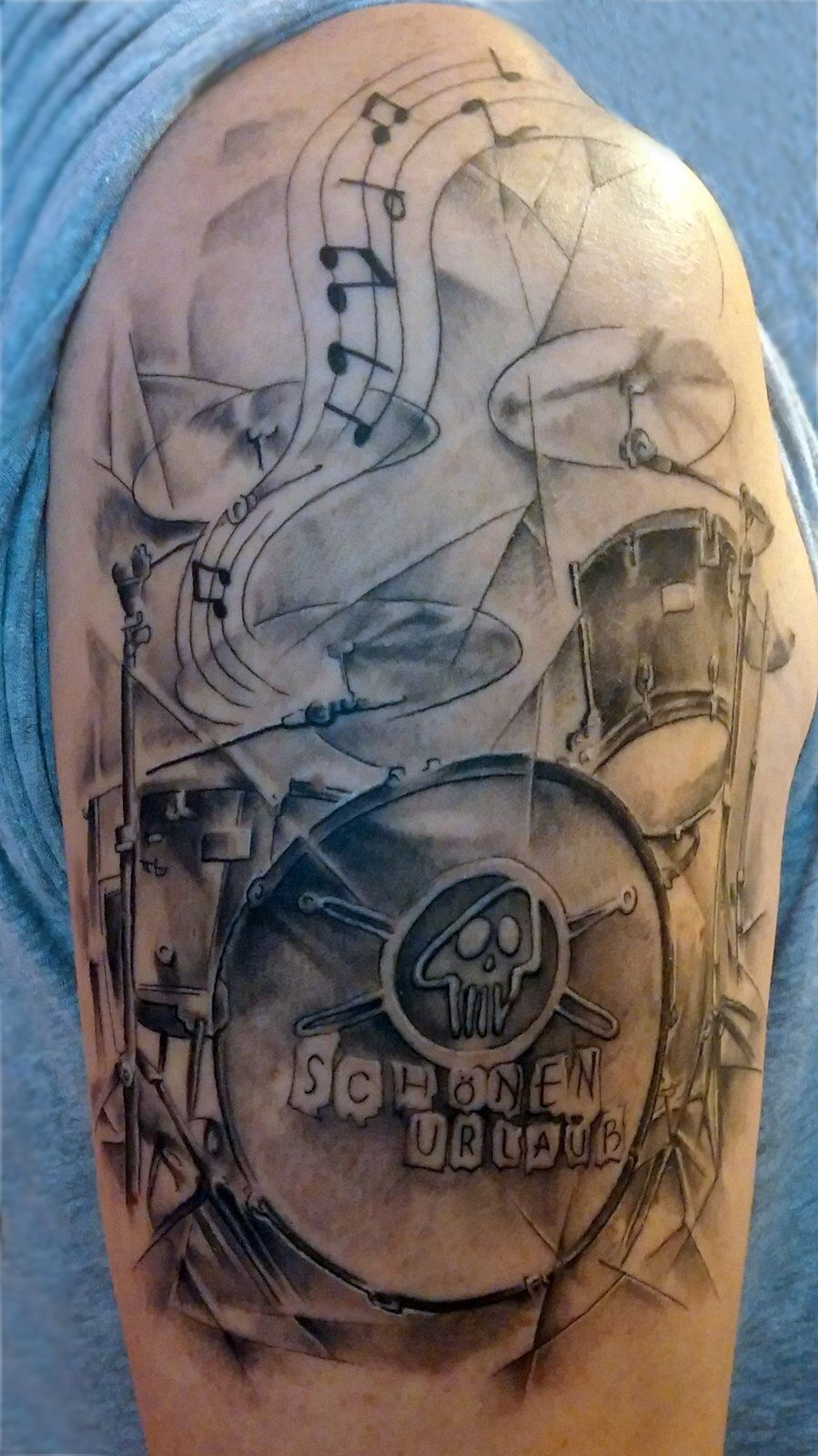 A Mapex Orion Drum Tattoo
