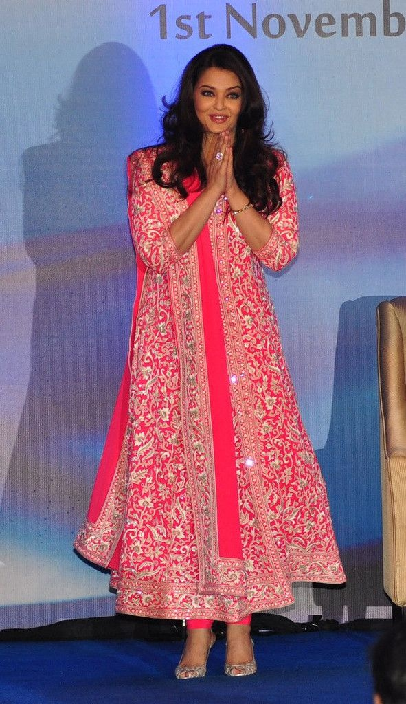 Aishwarya Rai in a #Neon Pink Party Wear #Suit. | Indian ...
