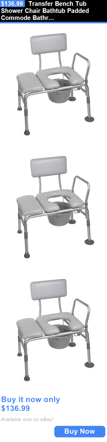 Toilet Frames and Commodes: Transfer Bench Tub Shower Chair Bathtub ...