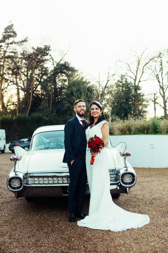 Love The Car 50s Themed Wedding Bride Wears True Bride