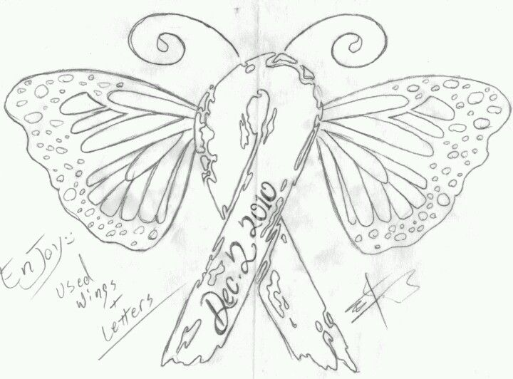 my next tattoo a uterine cancer awareness ribbon turned into a monarch butterfly peach. Black Bedroom Furniture Sets. Home Design Ideas
