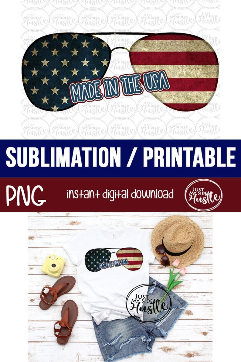 Made In The Usa Png Sunglasses Sublimation Designs Red White Etsy Diy Prints Sublime Screen Printing