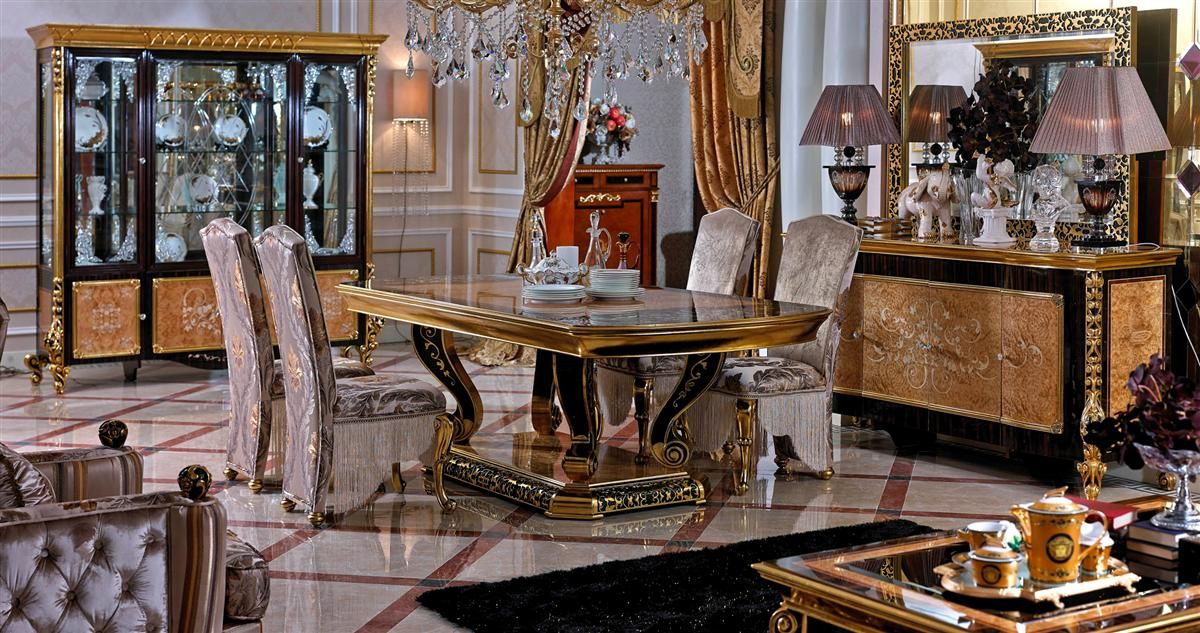 Luxury European Classic Style Dining Room Set With Table And