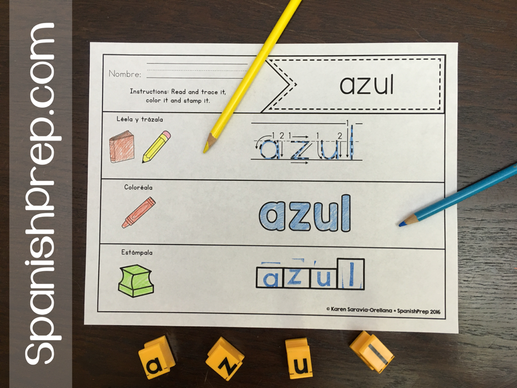 Kids Have Fun Practicing Their Spanish Sight Words With