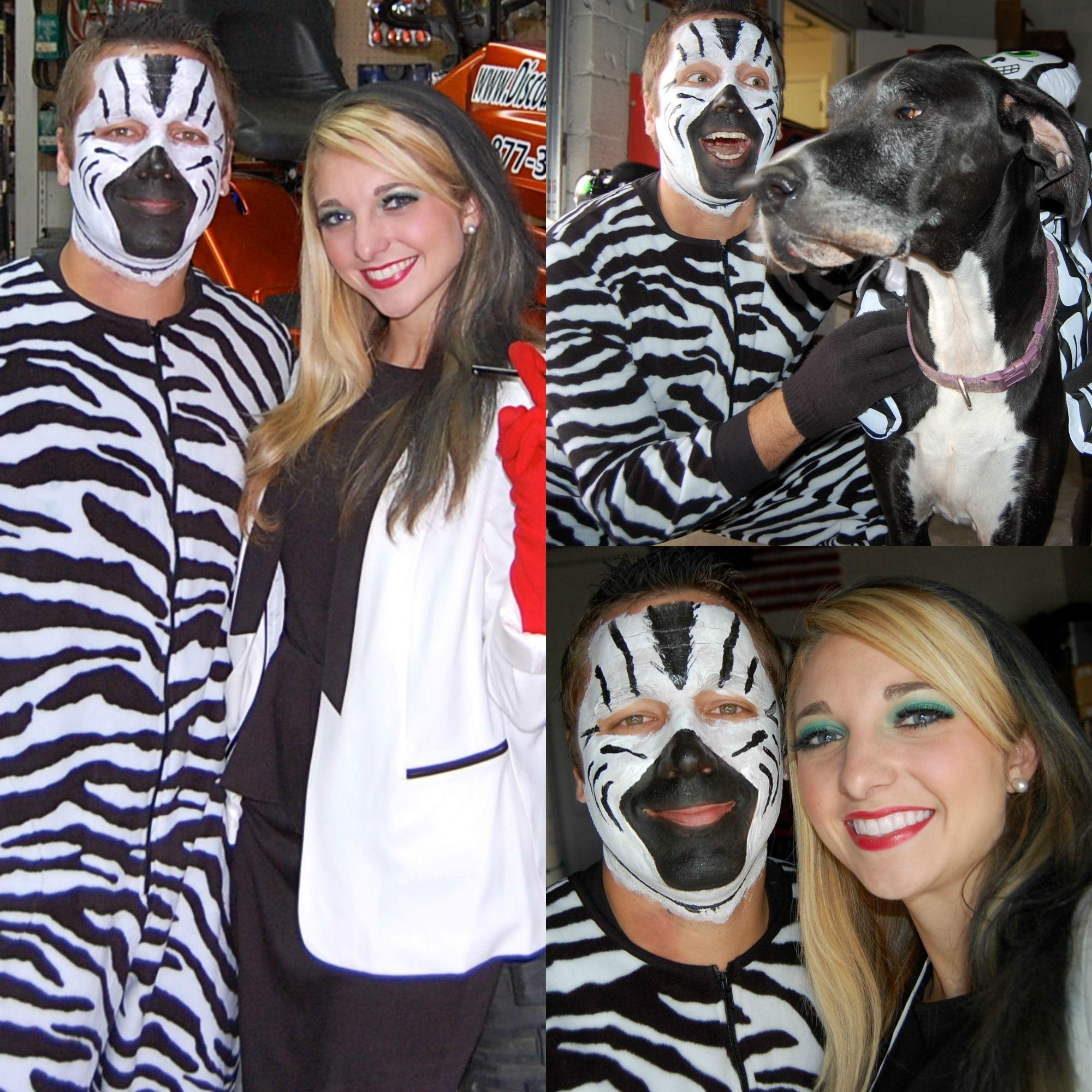 Halloween 2013. Zebra and Cruella Deville