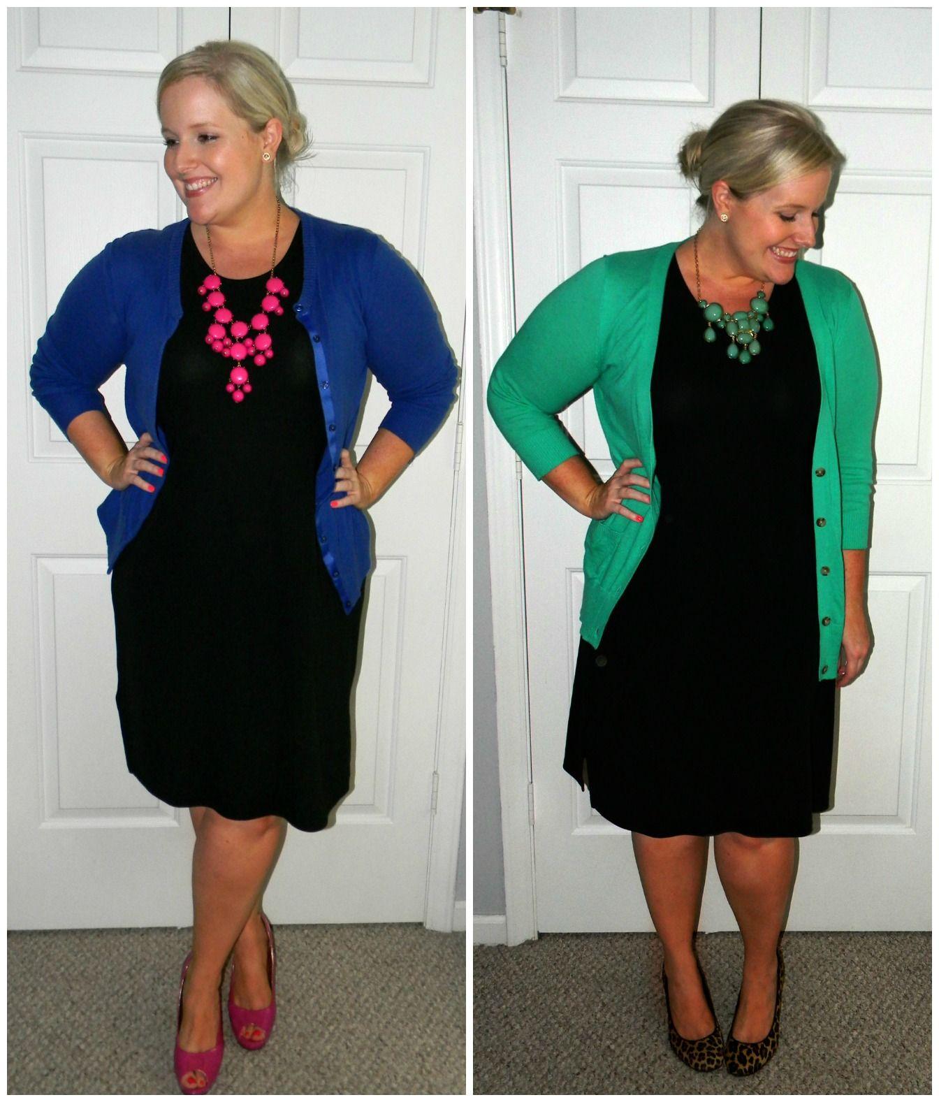 57012c355cfc Accessorizing a plain black dress