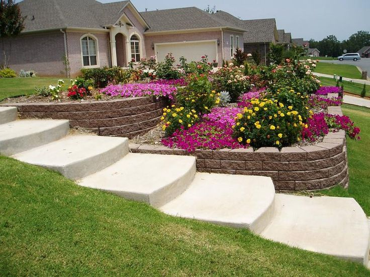 Steep Sloped Back Yard Landscaping Ideas | Sloped Front ... on Steep Sloping Garden Ideas  id=45806