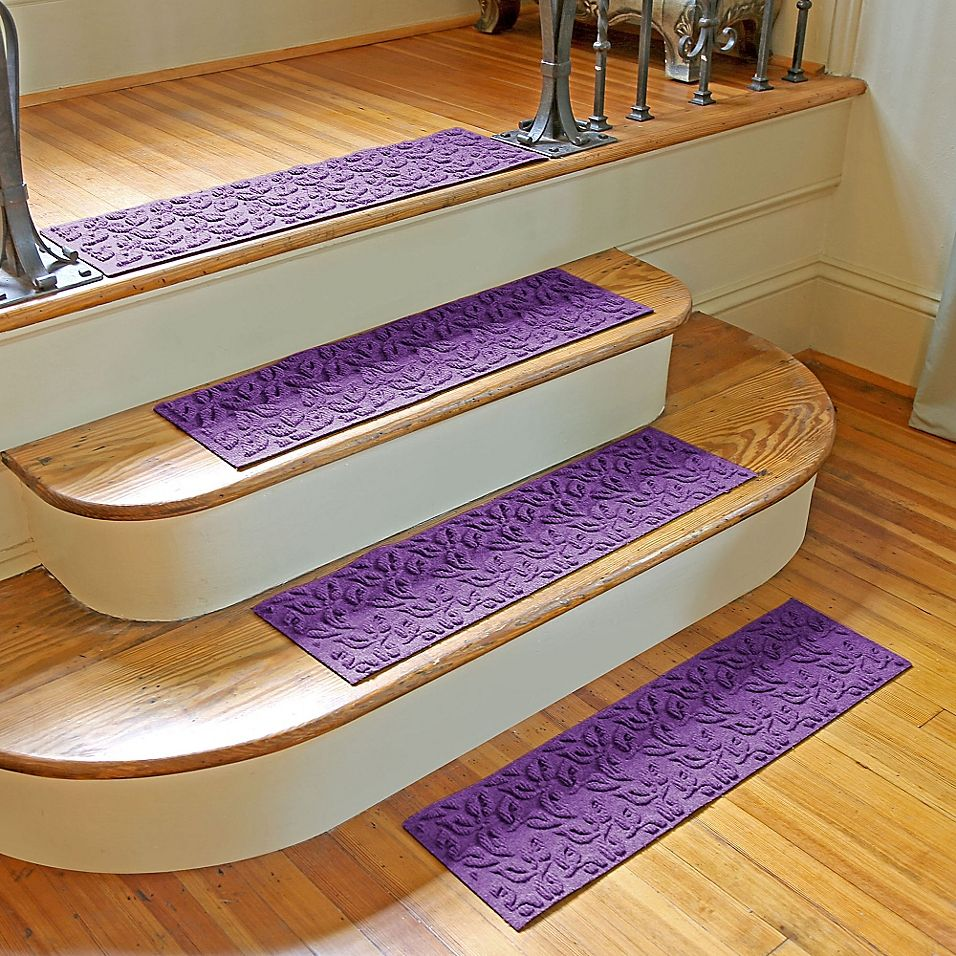 Best Weather Guard Dogwood Leaf Stair Treads In Purple Set Of 400 x 300