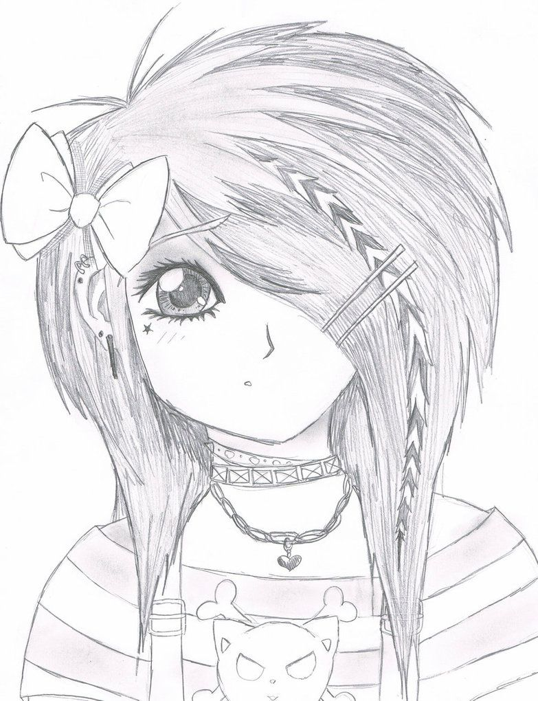 Emo drawings emo scene gurl by kattify7764 on deviantart