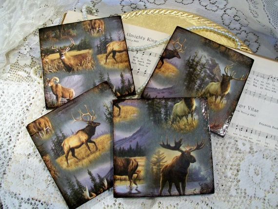 Outdoor Man Cave Gifts : Man cave coasters great outdoors gifts for hunters by prayernotes