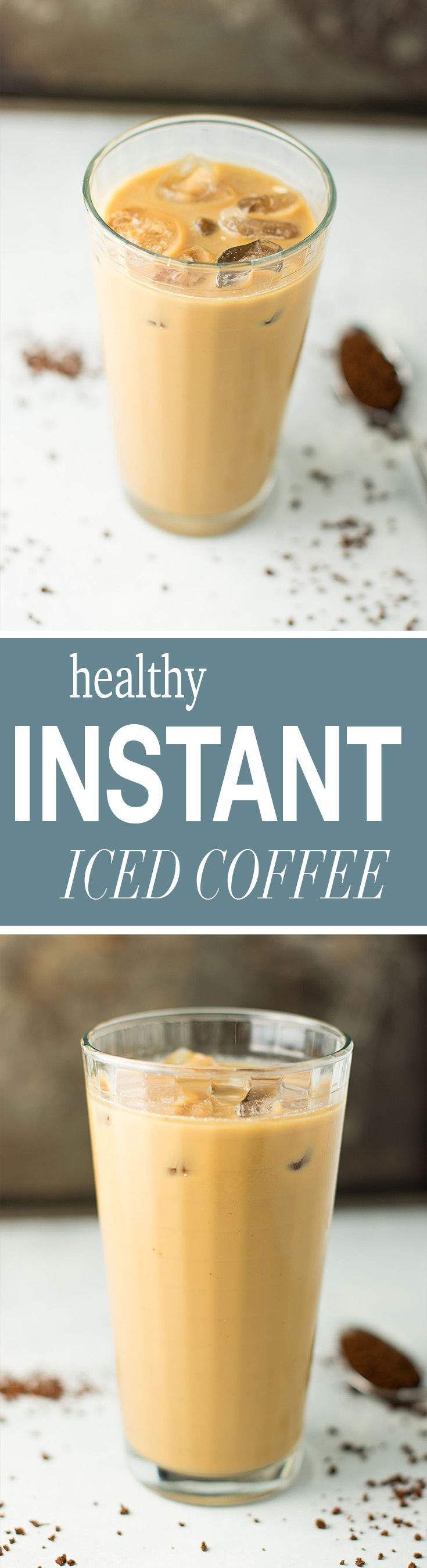 A two minute recipe for healthy instant iced coffee that