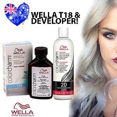 Wella T18 Colour Charm Hair Toner Plus Developer T18 Lightest Ash Blonde Hair Toner Icy Blonde Hair Blonde Hair At Home