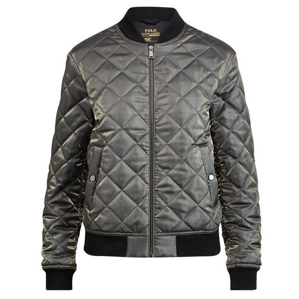 Polo Ralph Lauren Quilted Satin Bomber Jacket 130 Liked On