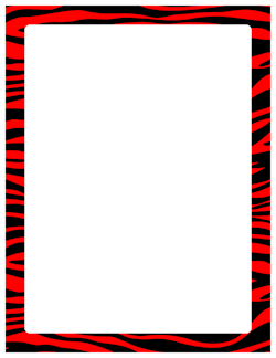 red and black zebra print border boarders pinterest zebra rh pinterest com zebra stripe border clip art
