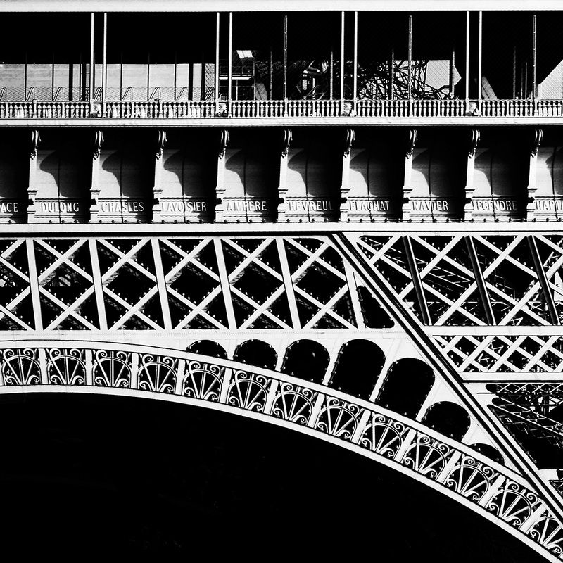 Eiffel eiffel tower steel art metal art industrial era industrial art icon of paris paris black and white abstract photo photography