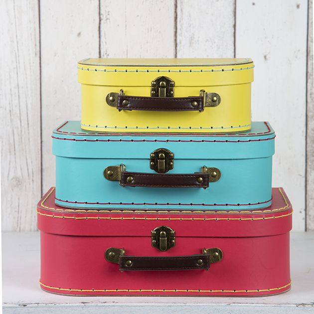 Set Of 3 Brights Retro Suitcase Storage Bo And Suitcases Furniture