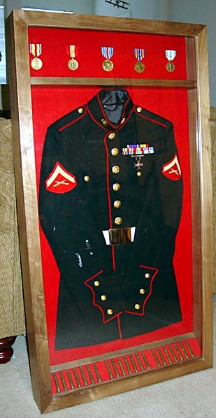 marine corps dress blues shadow box - Google Search : shadow box military uniform - Aboutintivar.Com