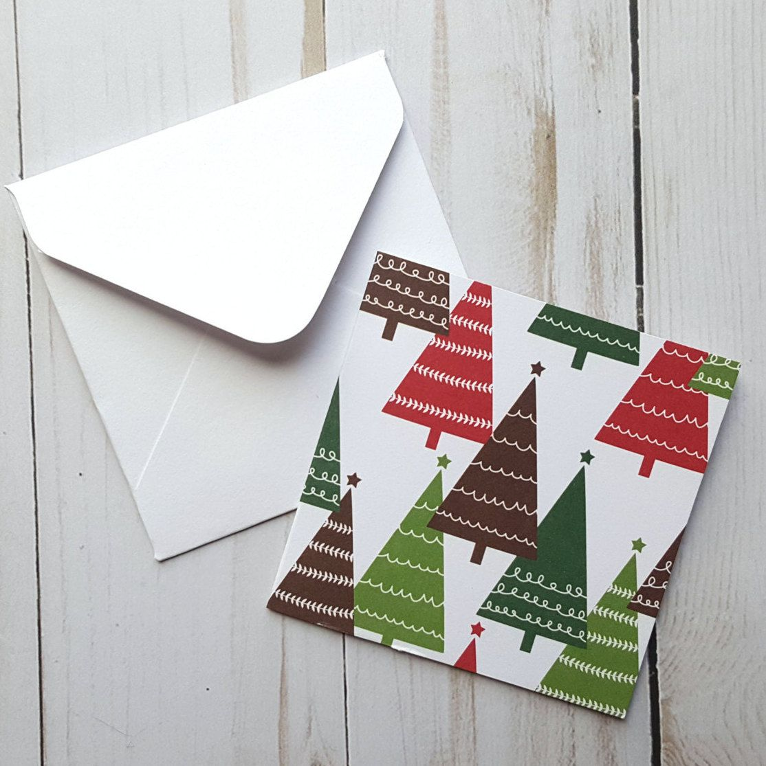 Christmas Tree Mini Cards, Christmas Cards, Small Christmas Note ...