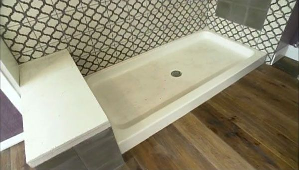 Cement Tile shower wall on HGTV