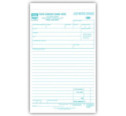 job work orders in book format 6558b looking for job orders that allow you to collect important data on the work done and also feedback from the customer