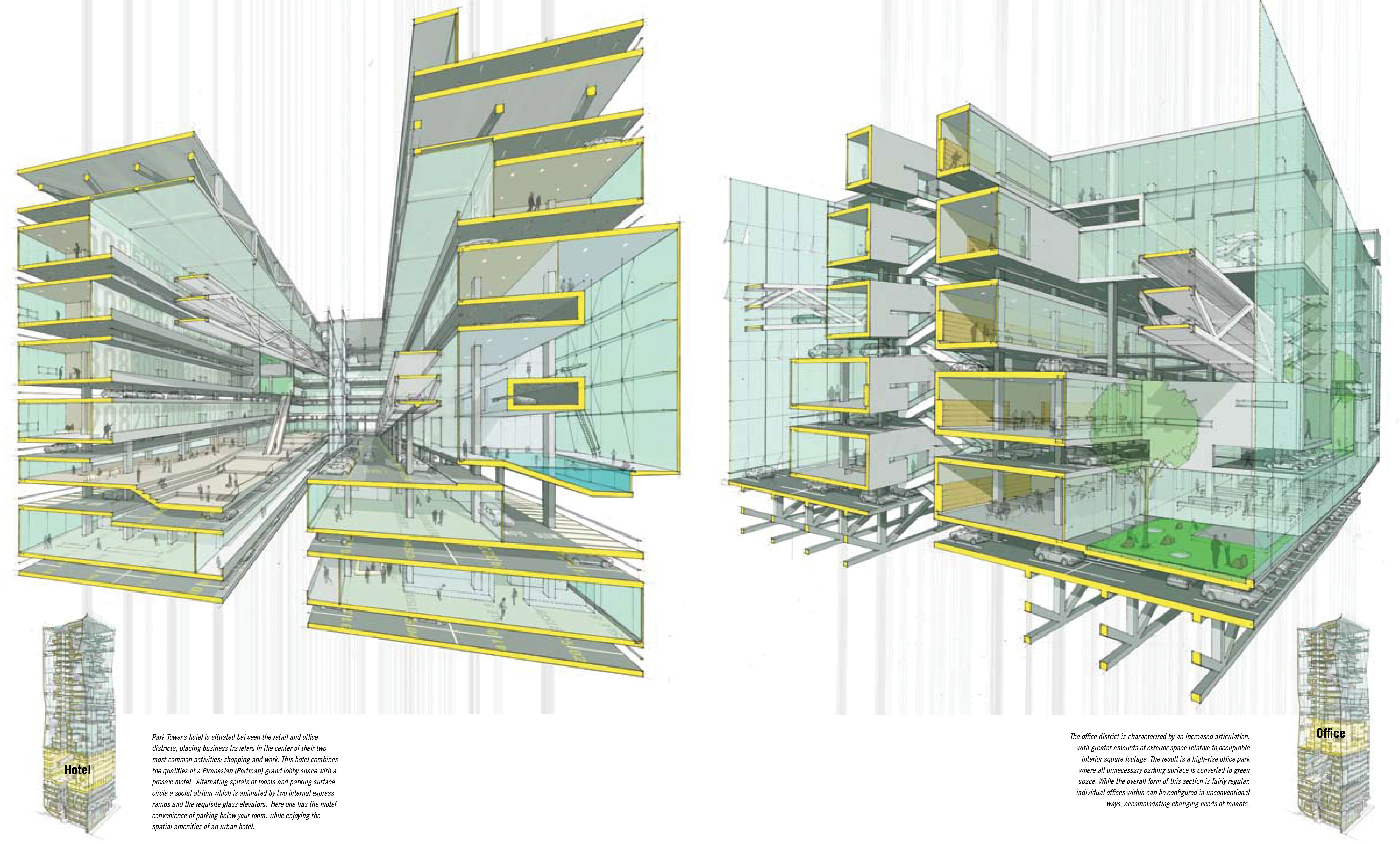 architecture section diagram 98 nissan maxima engine sectional perspectives dwgs pinterest perspective